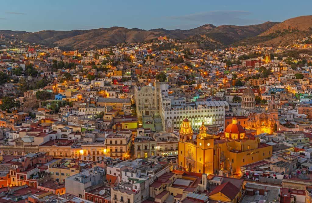 Cityscape of Guanajuato Mexico