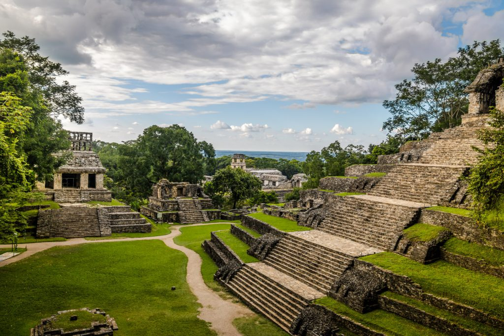 Palenque - Temples of the Cross Group at Mayan ruins